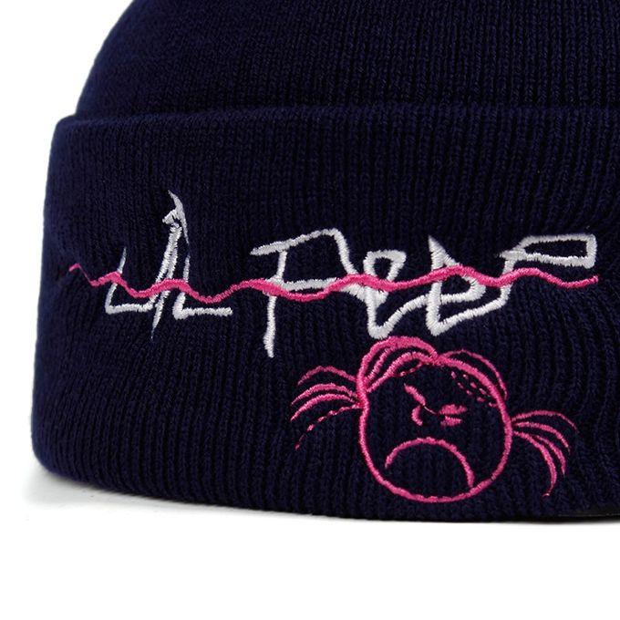 Hommes Femmes Lil Peep Beanie Broderie Knit Cap Hip Hop Hiver Chaud Unisexe Bonnet Tricoté