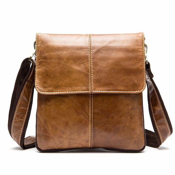 Leather Man Bag hommes Sac bandoulière Petit Messenger Cross Body Sac à main Mobile...