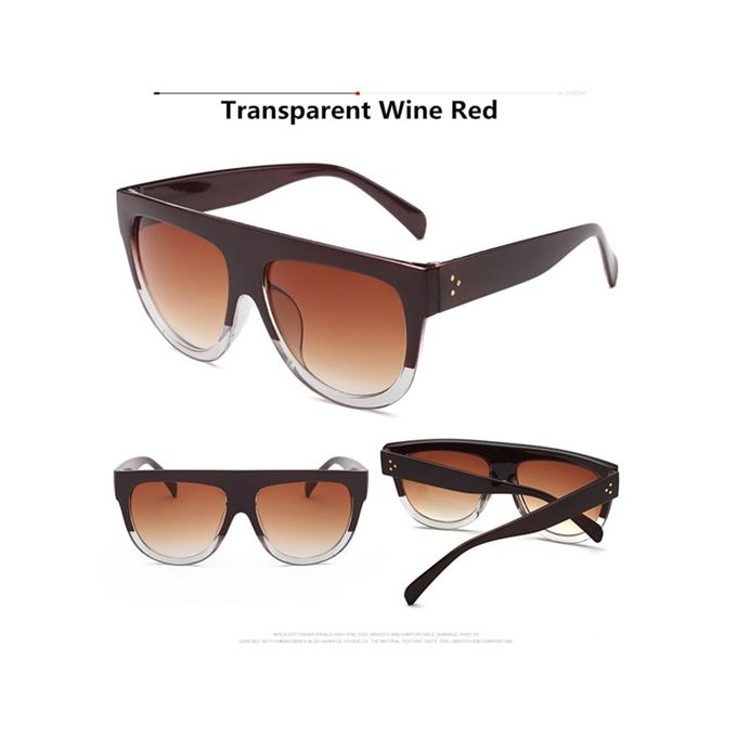 Lunettes de soleil Femme Women/'s Grand Cadre Rétro Vintage UV400 Designer surdimensionné