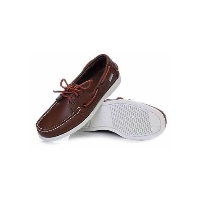 style top brillant chaussure bateau en cuir les meilleurs