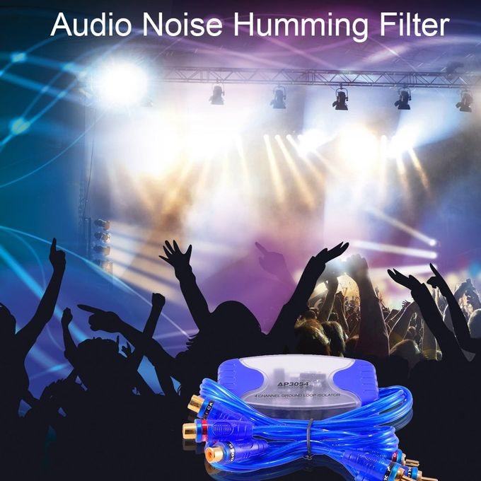 4-Channel RCA Audio Noise Filter Suppressor Ground Loop Isolator Car Stereo LA