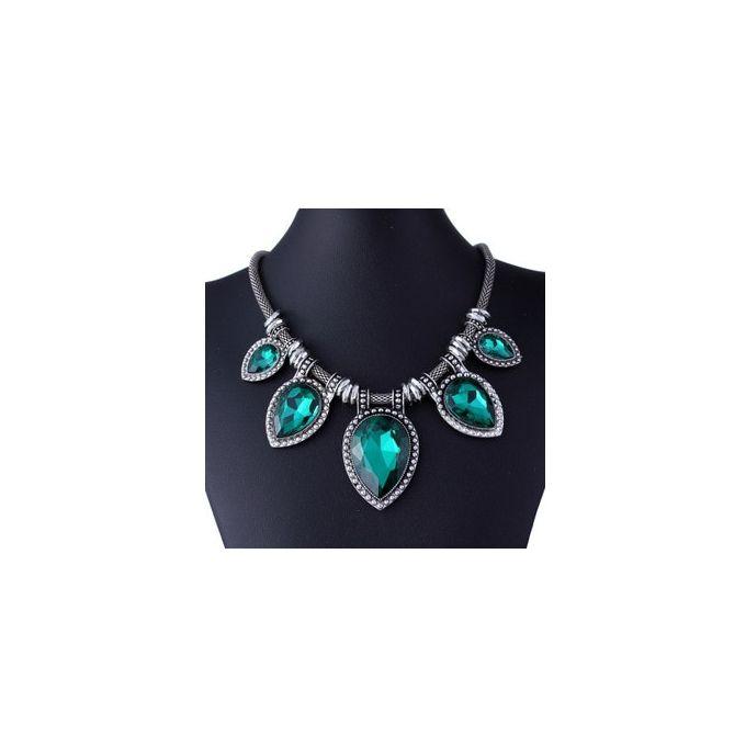 bijoux les femmes chaîne collier gros collier crystal pendentif déclaration bib
