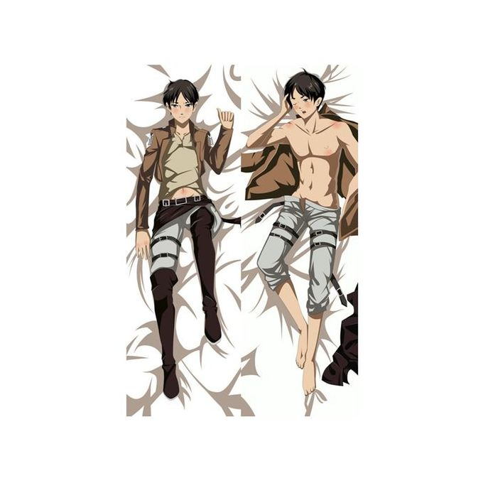 Anime Attack On Titan Pillow Cover Mikasa Levi Ackerman Pillowcase 3d Double Sided Bedding Hugging Body Pillow Case Customize 01 Peach Skin 34x100cm