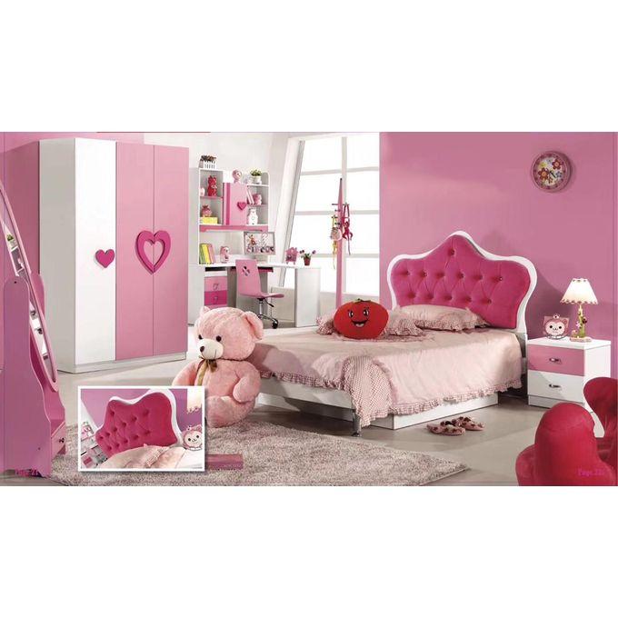 Ensemble Chambre à Coucher Compléte Pour Enfant - Rose