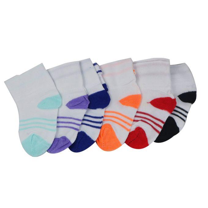 Filles Couleurs 6 paires de chaussettes pour bébé retournez top-Garçons