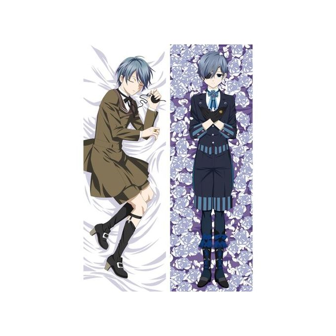 Anime Kuroshitsuji Pillowcase Hugging Body Pillow Cover Cartoon Pillow Cases Throw Dakimakura Cover Body Pillow Case Pillowslip F 35x100cm Peach