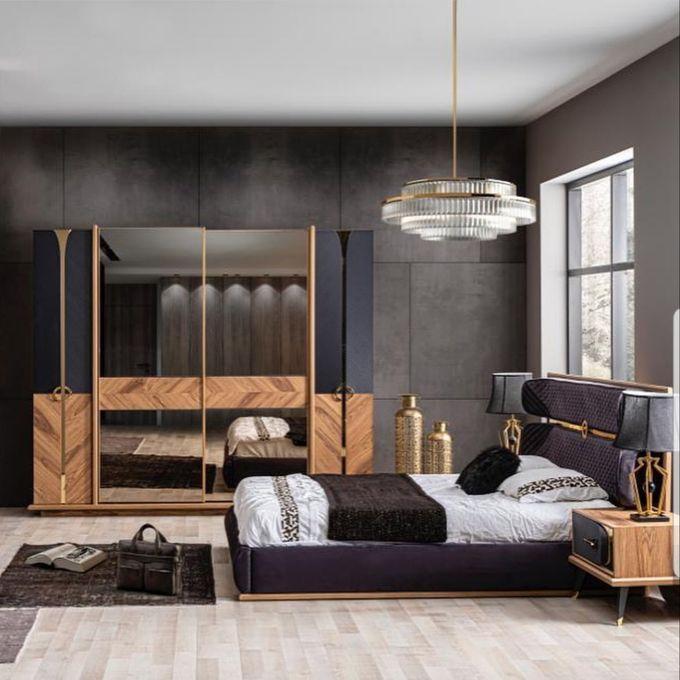 Chambre à coucher complet Moderne 2019, en bois massif, commode , armoire,  chevet de lit