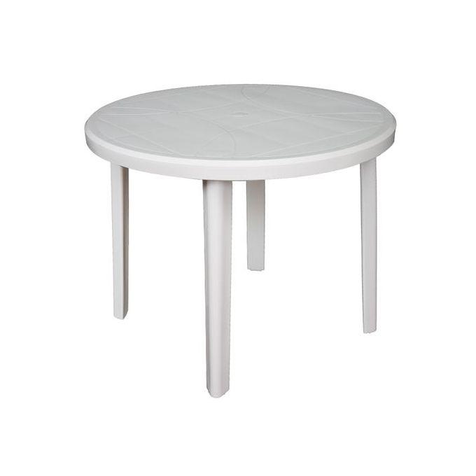 Generic Table Ronde 4 Places Progarden Plastique Motifs