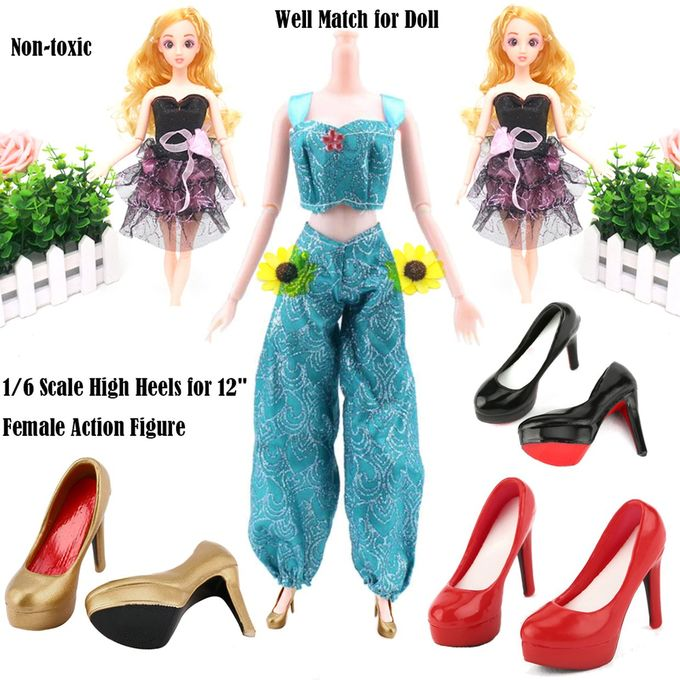 """1//6 Scale High Heels Platform Shoes for 12/"""" Female Hot Toys Action Figure Body"""