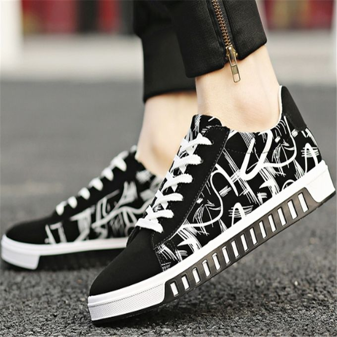 Fashion Black And White Pattern Korean Sneakers Are Comfortable And Breathable Prix Pas Cher Jumia Sn