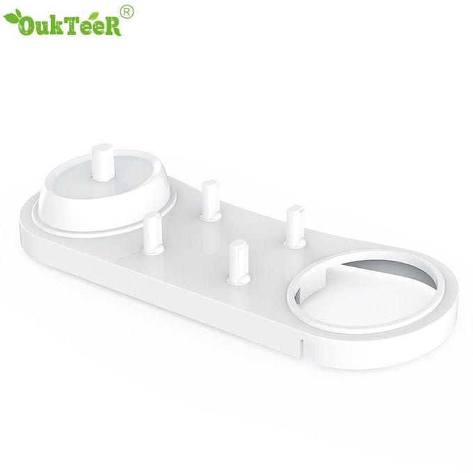 Brosse /à dents /électrique support Brosse /à dents de salle de bain Stander Support de base Base 2 Brosse /à dents Heads Base avec trou de chargeur
