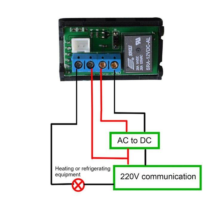 W3018 DC 12V//24V Digital Thermostat LED Temperature Controller Sensor Waterproof