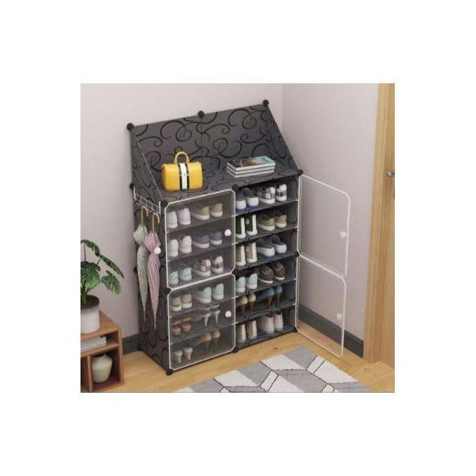 Generic Rangement de Chaussures Plastique Cube - DIY 6 Cubes Divisés en 2 - 32 Paires - Prix pas ...