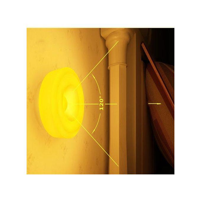 Capteur De Mouvement Pir Lampe Rechargeable Night Light Lampe De Chevet Jaune Lampe A Led Ronde