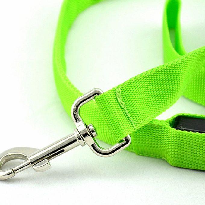 Generic OR LED Adjustable Pet Dog Car Seat Belt Safety Leads Vehicle Harness  Nylon Fabric Green - Prix pas cher   Jumia SN