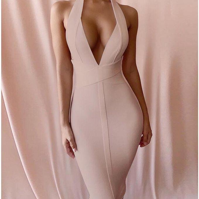 Universal Cerf Dame Femmes Ete 2019 Robe De Soiree Sexy Blanc Robe Moulante Pansement Club Midi Dos Nu Robe De Pansement Noir Rouge Nude Prix Pas Cher Jumia Sn