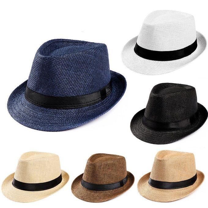 Outflower Chapeau de Jazz//Chapeau Panama//Chapeau de Paille Les Hommes et Les Femmes Peuvent Porter