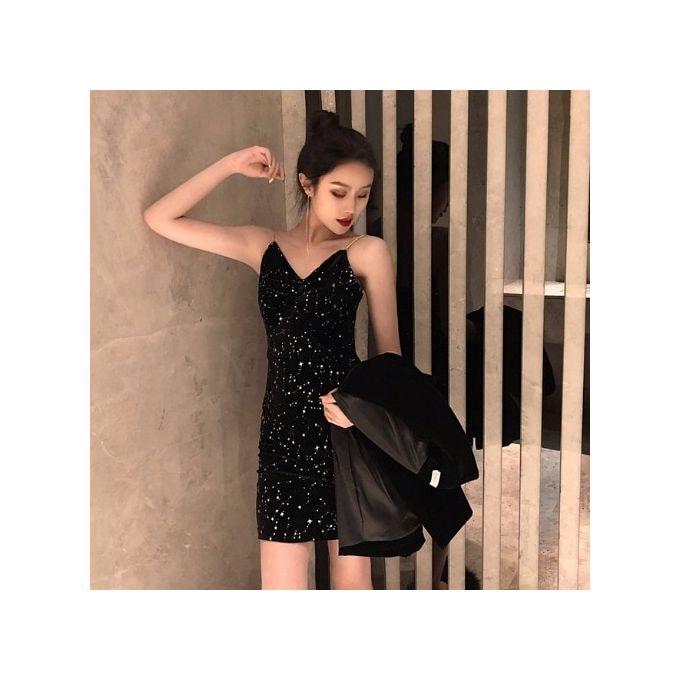 Fashion Pas Cher En Gros 2019 Nouveau Printemps Vente Chaude Femmes Mode Decontracte Sexy Robe Bw13 Black Prix Pas Cher Jumia Sn