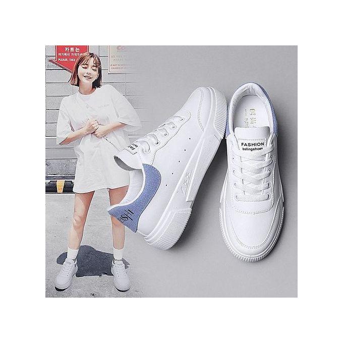 Fashion Classy White Sneakers Flat