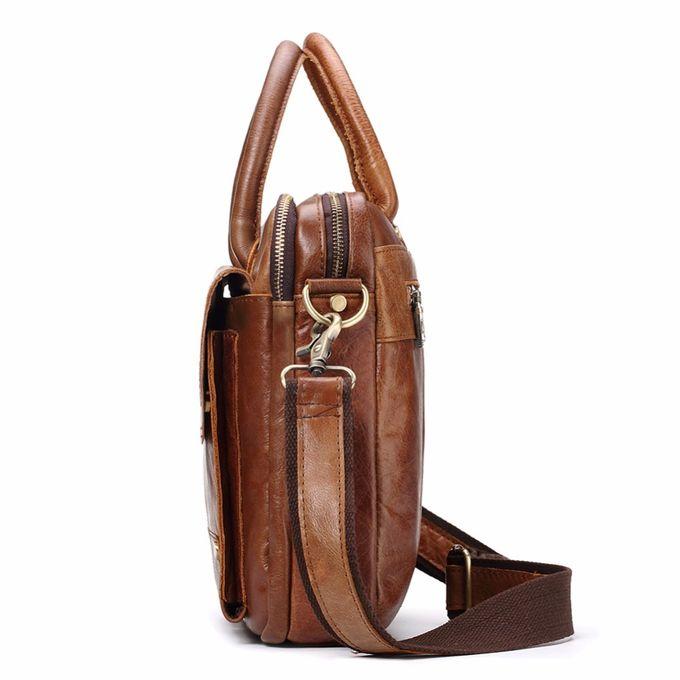 Contacts Sac /à Bandouli/ère en Cuir V/éritable pour Homme 14 Messenger Bagcase marron