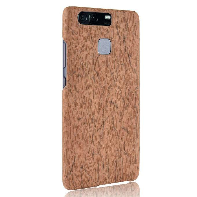 Coque Pour HUAWEI P9 Housse de protection Grain de bois