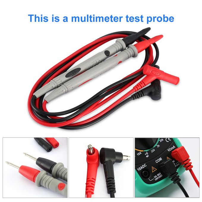 UYIGAO 20A Needle Tip MultiMeter Probe Test Leads Pin for Digital Multimeter Red/&Gray