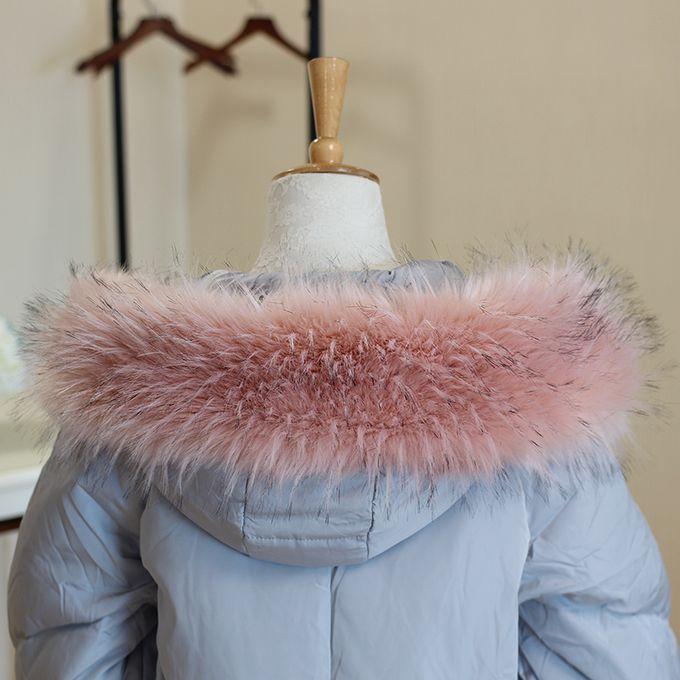 Faux raton laveur Veste à capuche fourrure Decor Lady col en fourrure manteau col en fourrure