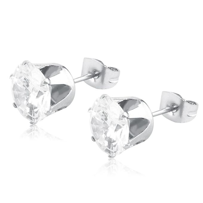 Generic Cool 1 Pcs Women Men Titanium Steel Rhinestone Ear Stud Earrings Jewelry Prix Pas Cher Jumia Sn