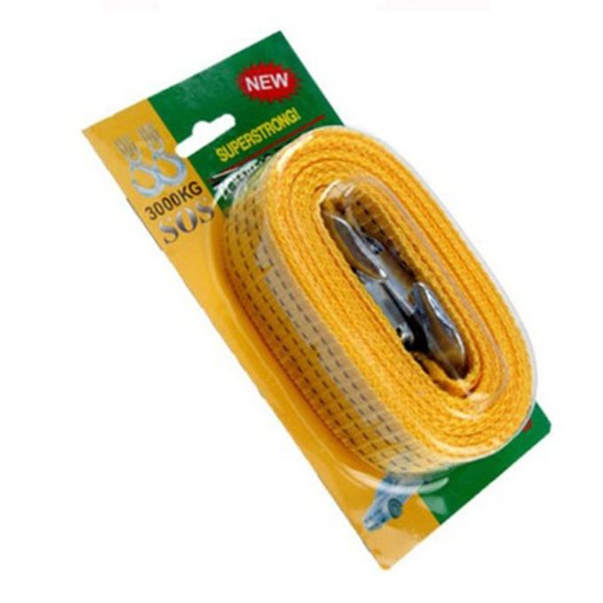 Car Tow Rope Strap High Strength Nylon Strap with Strong Hook Towing Cable