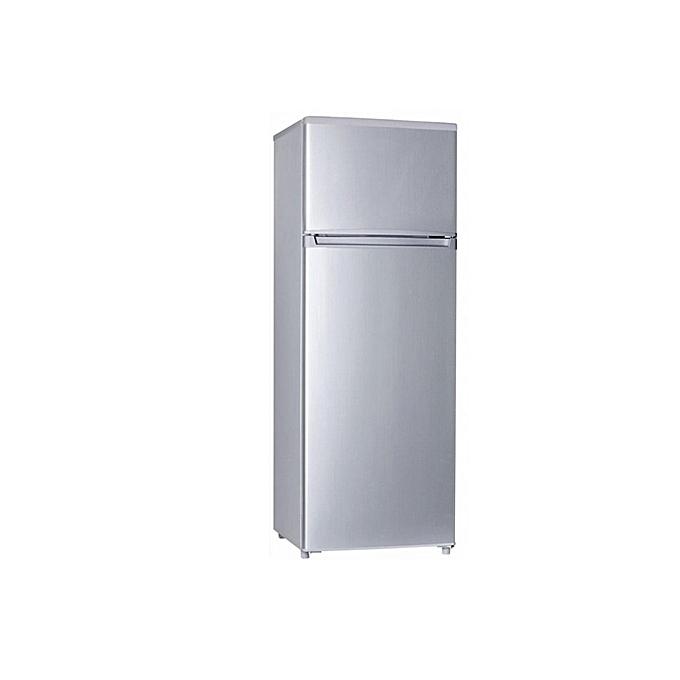 haier r frig rateur double porte hrs330s 257 litres argent classe a prix pas cher. Black Bedroom Furniture Sets. Home Design Ideas
