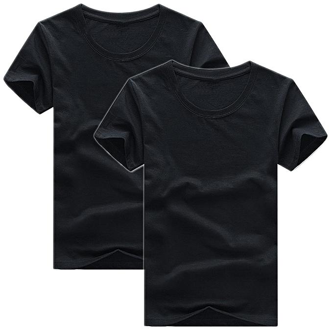 87e4678dbf40c White Label Pack 2 T-Shirts Slim Fit en Coton- Col Rond - Manches ...