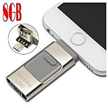 clé usb flash drive 8go pour iphone - samsung - ordinateur pour transférer - stocker fichier entre pc et téléphone - multi couleur ( noir - rose - beige ...)