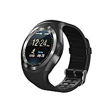 montre connectée - y1 - smartwatch ecran tactile support micro carte sim avec bluetooth 3.0  pour ios & android - noir