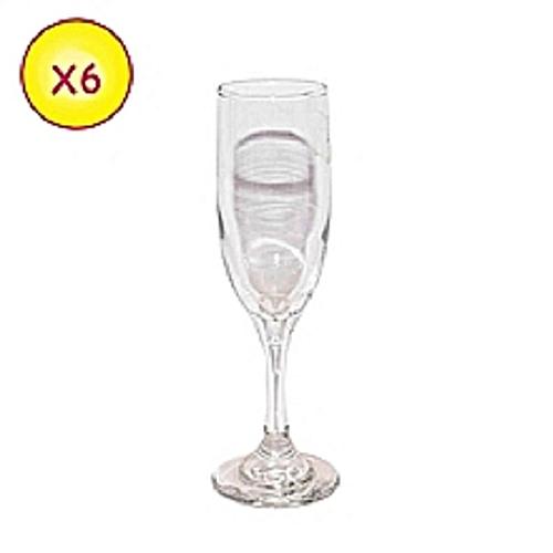 1ad7b6a920378f LAV Lot de 6 Verres à Champagne - Flûte - Transparent - Prix pas ...
