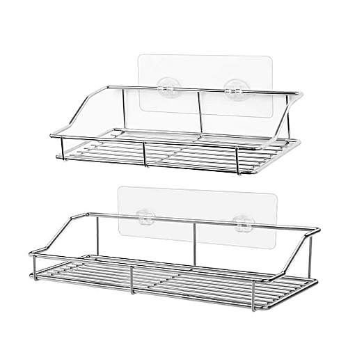 Shower Caddy 2-Pack Adhesive Bathroom Storage Shelf Kitchen Rack Organizers