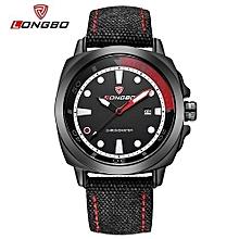 80194 montres décontractées de sport avec bracelet en toile pour homme, calendrier, heure, montre à quartz étanche