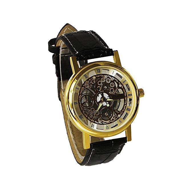 White Label Montre Squelette classic Homme - Bracelet simili cuir ... 83429a6248f
