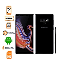 "samsung note 9 - systèmeandroid 8.1 -taille (diagonale) 6.4 ""- ram: 6go  -rom: 128go - resolution:12.0mp - connectivity:2g, 3g, 4g  -bluetooth, gprs, gps - noir"