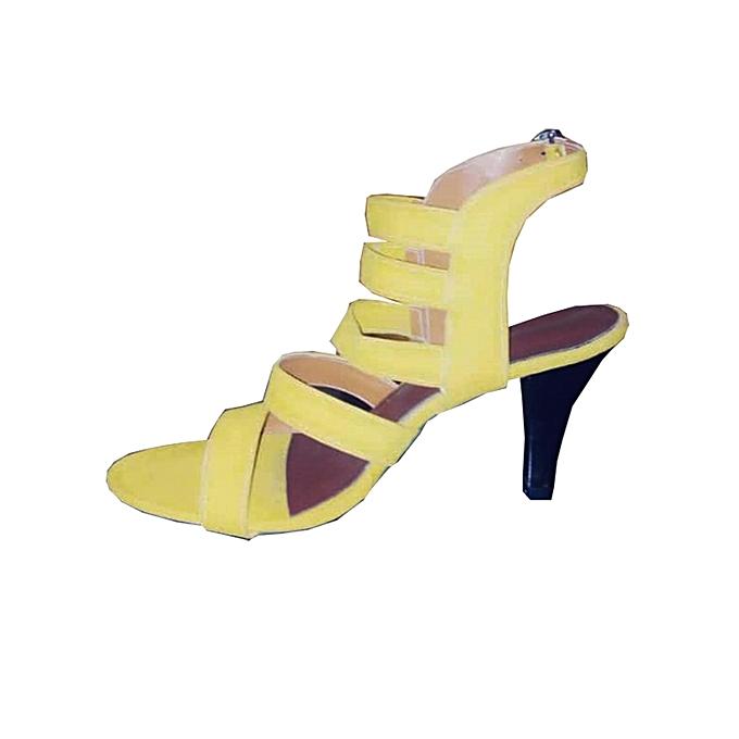 plus récent 9adad 3dff8 Chaussure Talon haut pour femme - Jaune