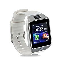 montre connectée dz09 - bluetooth smart - caméra - carte sim - alarme - blanc