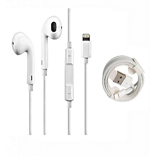 white label ecouteur iphone 7 8 x cable original blanc. Black Bedroom Furniture Sets. Home Design Ideas